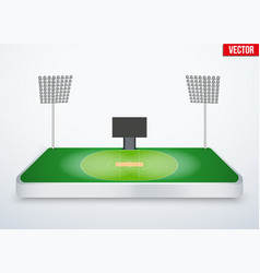 Concept of miniature tabletop cricket stadium vector image