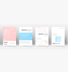 Cover page design template minimalistic brochure vector