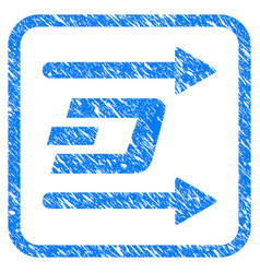 dash send arrows framed stamp vector image