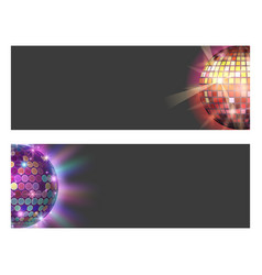 disco ball discotheque card music party night club vector image