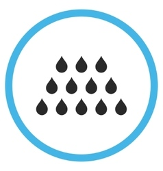 Drops Flat Icon vector image
