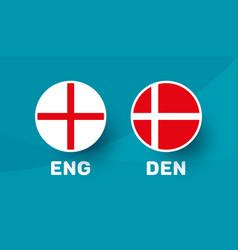 England vs denmark match football 2020 vector