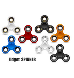 fidget finger spinner stress relief hand toy vector image