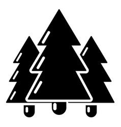 fir tree icon simple black style vector image