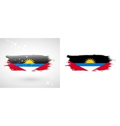 Flag of Antigua and Barbuda vector image