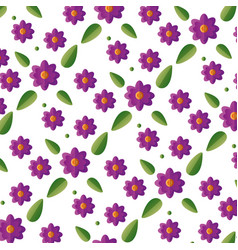 flowers decoration leaves foliage vector image