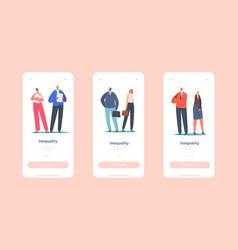 gender inequality sex discrimination mobile app vector image