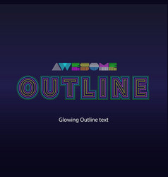 glowing text vector image