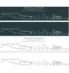 Granada single line skyline banner vector