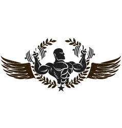 gym graphic symbol vector image