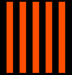 halloween pattern black and orange vertical strips vector image