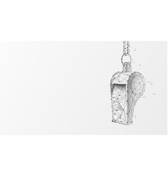 Hanging sports whistle on white background vector