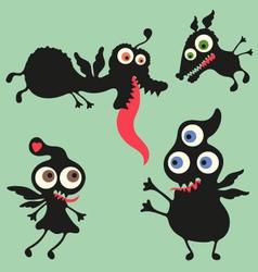 Happy monsters - Set 10 vector image