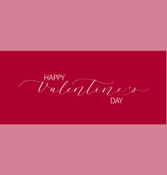 happy valentine day retro classic romantic design vector image