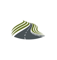 Highway road symbol with dividing strip vector image