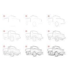 How to draw step-wise sketch road cleaning vector