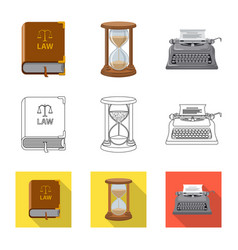 Law and lawyer logo set of vector