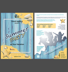 Leaflet template summer party vector