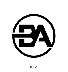 Letter b and a concept vector