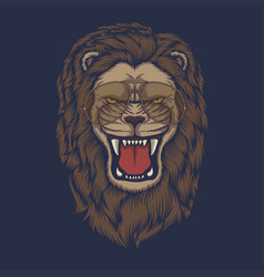 lion angry head eyeglasses vector image