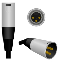 Male XLR Microphone Plug vector