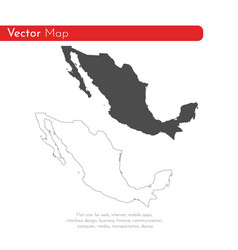 map mexico isolated black on vector image