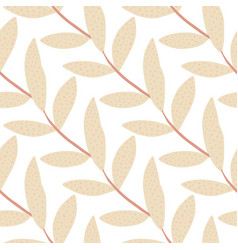 Minimalistic floral branches on white background vector
