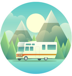 Mobile home vector