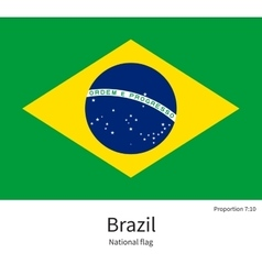 National flag of Brazil with correct proportions vector