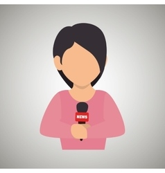 News reporter design vector