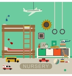 Nursery baby room interior vector