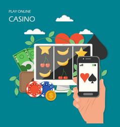 online casino game concept flat vector image