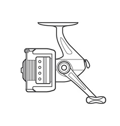 outline fishing reel vector image