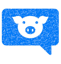 Pig message icon grunge watermark vector
