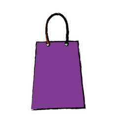 purple paper shopping bag gift handle element vector image