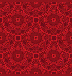 red abstract geometric circles flower textured vector image
