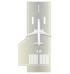 runway vector image