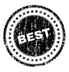 Scratched textured best stamp seal vector