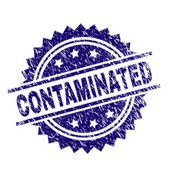Scratched textured contaminated stamp seal vector