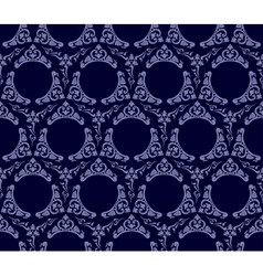 seamless wallpaper background vintage blue black vector image