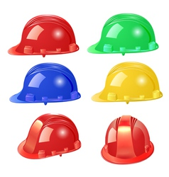 set of building helmet vector image