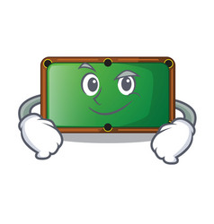 Smirking billiard table is insulated with vector