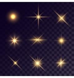 Star lighting effects vector