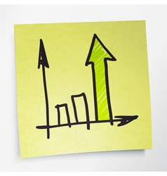 sticky note business graph vector image