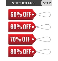 Stitched tags Set 2 vector