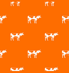 switzerland cow pattern seamless vector image