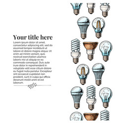 template with different light bulb vector image