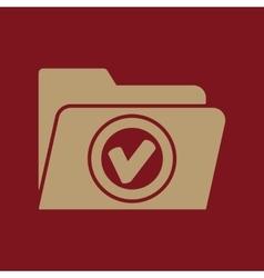 The folder icon File symbol Flat vector