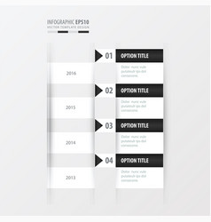 Timeline black and white color vector