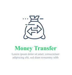 Transfer money concept send or receive payment vector